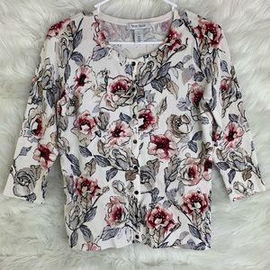 White House Black Market Rose Cardigan Sweater